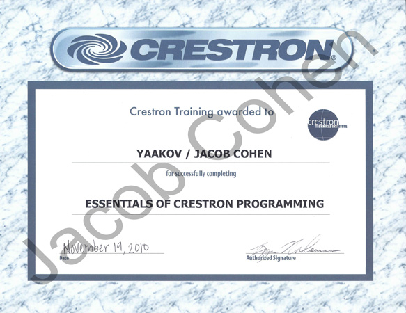 Certification - BH Theater